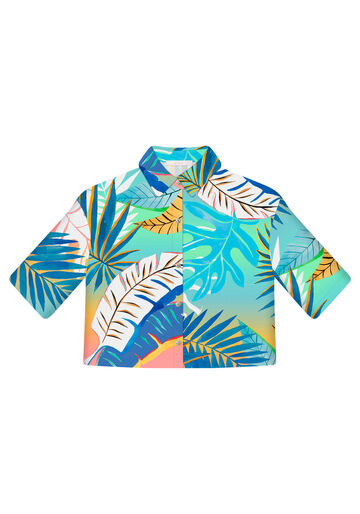 Camisa Manga Curta Cropped, JENIPAPO, large.