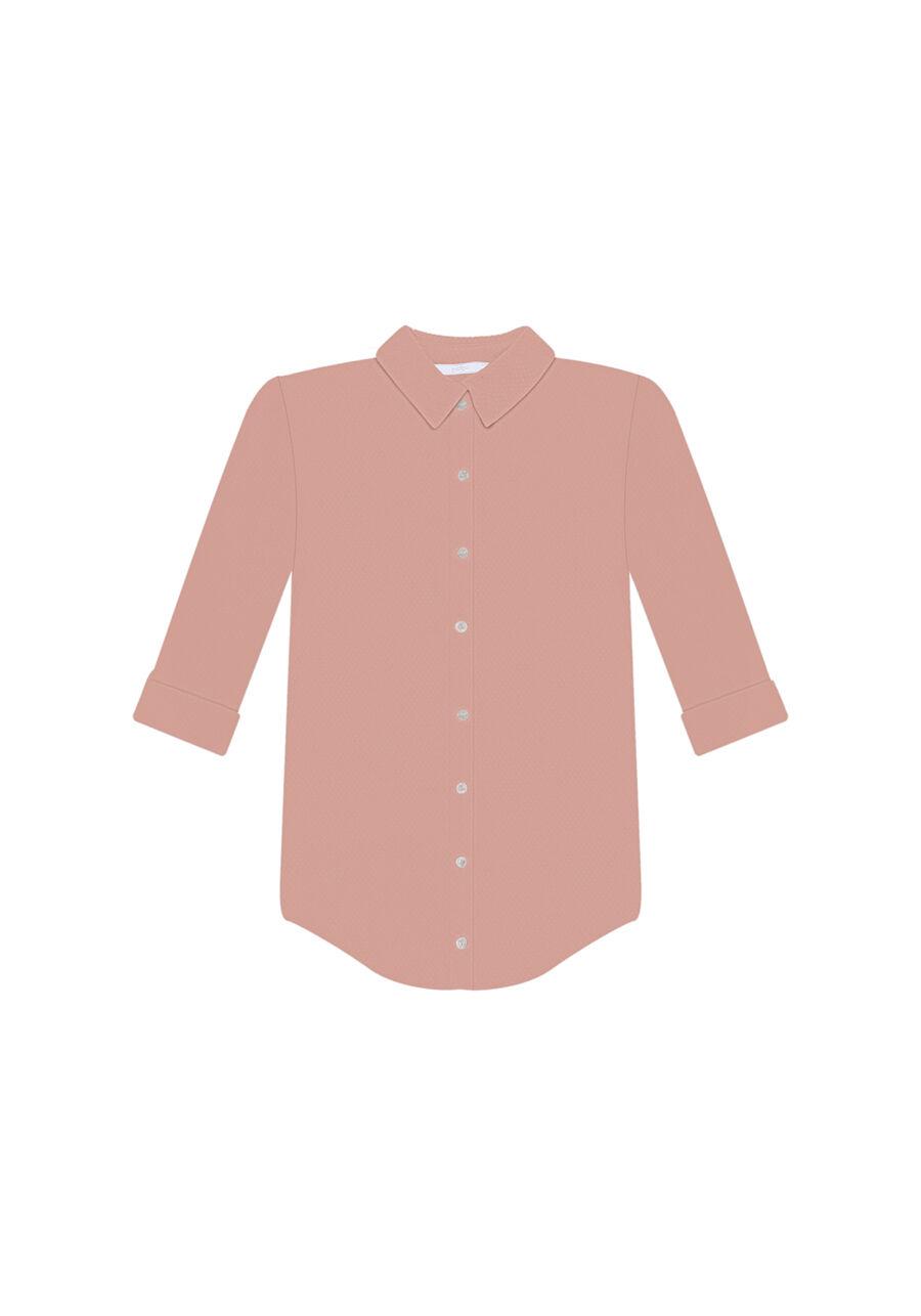 Camisa Manga 3/4 Clássica, ROSA, large.