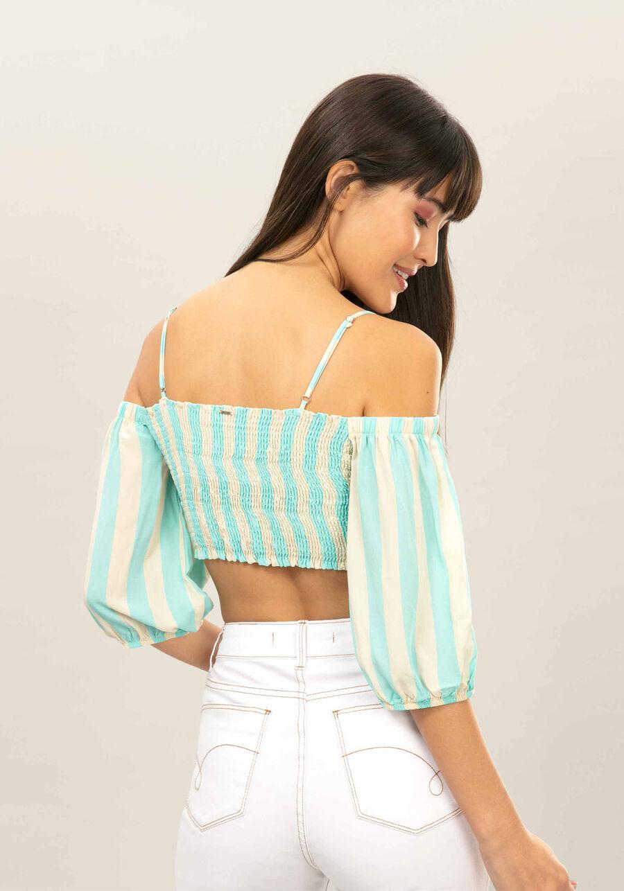 Blusa Ciganinha Cropped, , large.