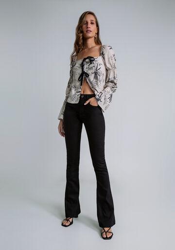 Calça Jeans Bootcut Malibu Ever Black, PRETO, large.