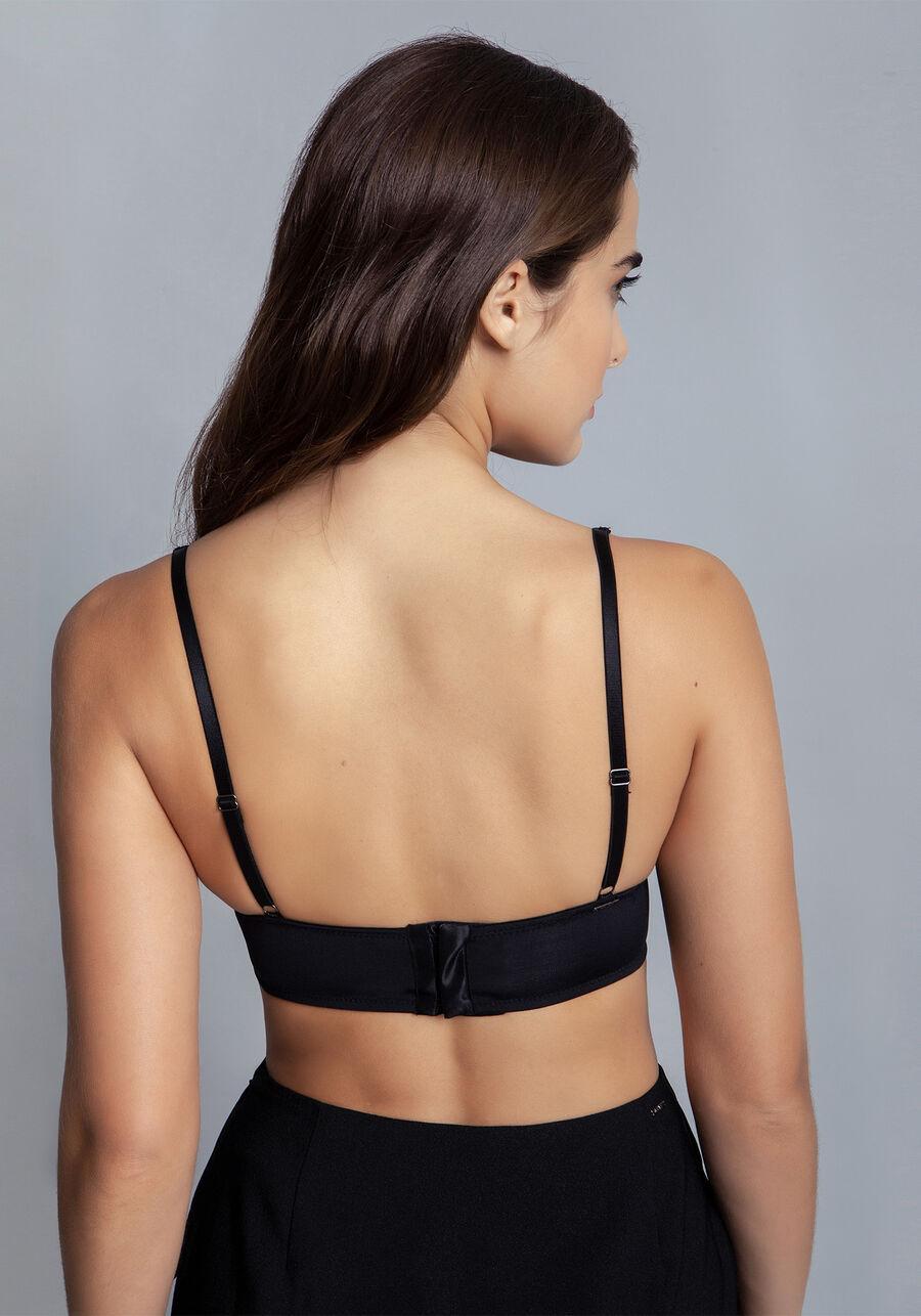 Top underwear em Renda, PRETO, large.