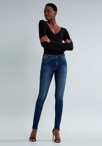 Calça Cropped Sirena Flat Belly, JEANS, large.