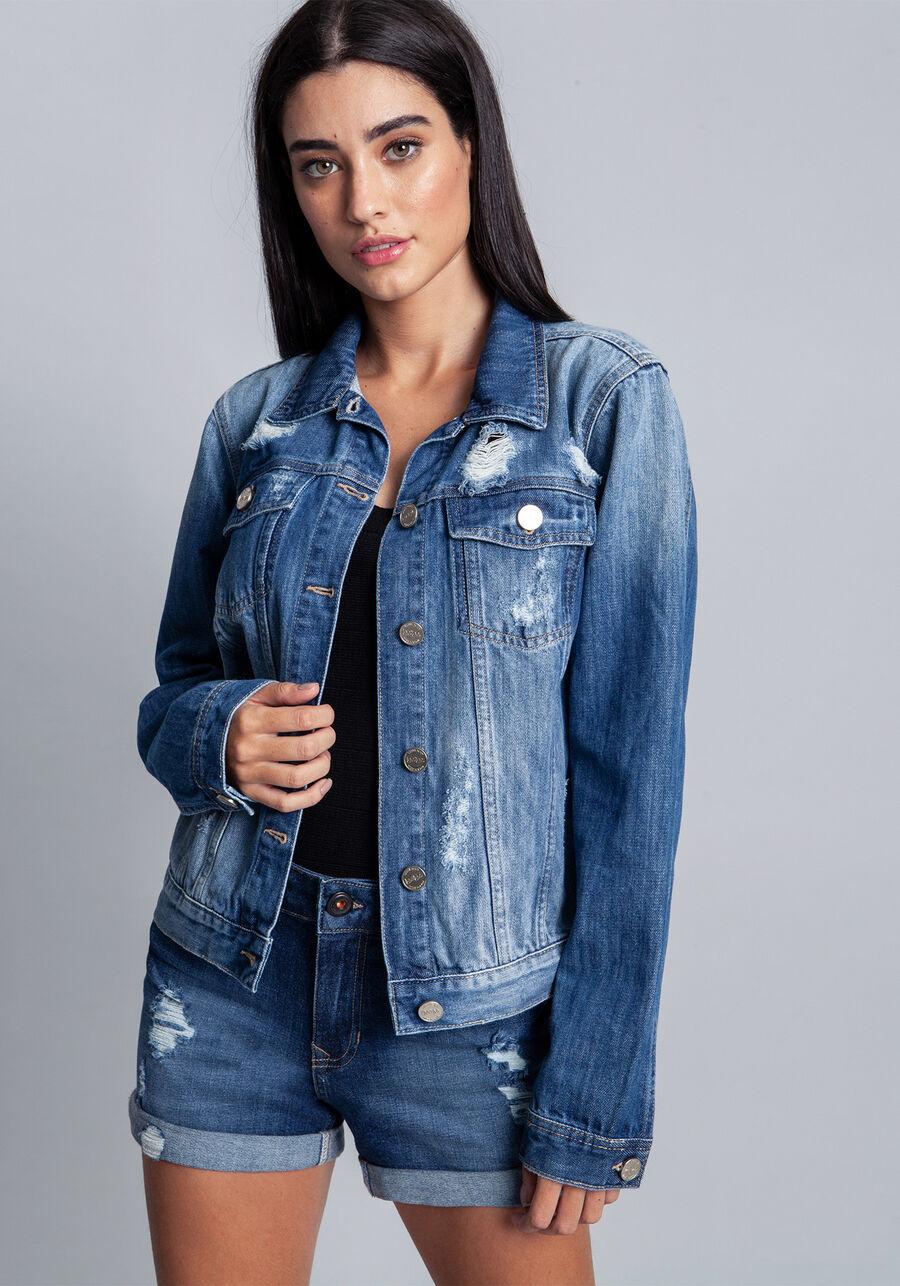 Jaqueta Jeans, JEANS ESCURO, large.