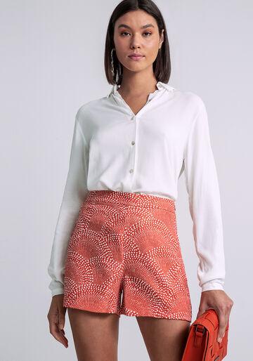 Shorts Cintura Média Estampa, IRRADIE, large.