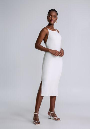 Vestido Mídi Alças Transpassadas, OFF WHITE, large.