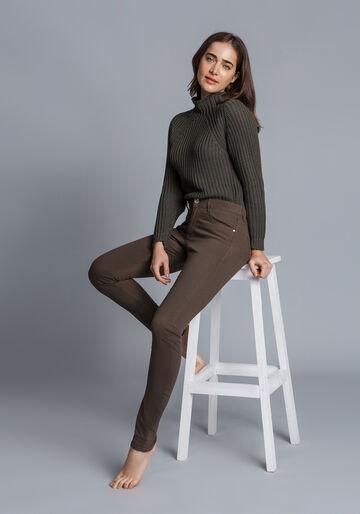 Calça Jeans Skinny Sirena, VERDE, large.
