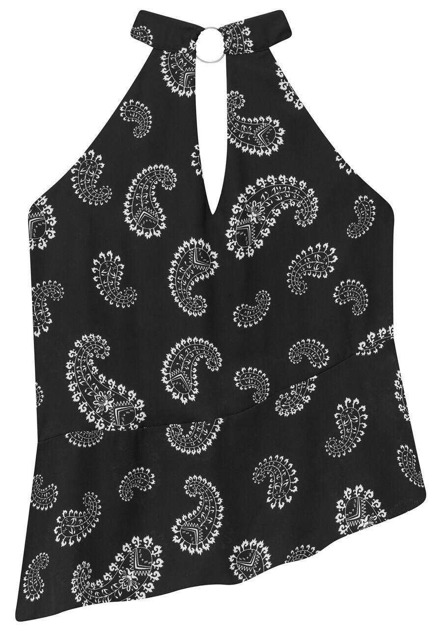 Blusa Frente Única Estampada Malha, , large.