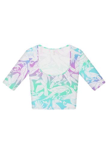 Blusa Cropped Decote U Estampa, AXE, large.