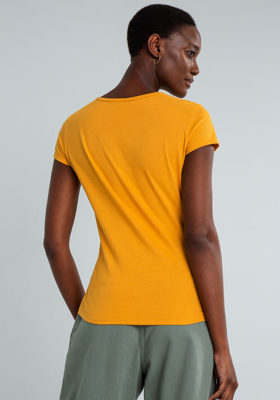 T-shirt Estampada Radiate Love, AMARELO, large.
