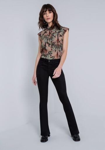 Calça Jeans Bootcut Malibu Ever Black, CALCA SARJA COM ELASTANO, large.